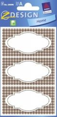 Avery Zweckform Z-Design No. 59694 papír matrica befőttes üvegre - kockás mintával - kiszerelés: 3 ív / csomag (Avery Z-Design 59694)