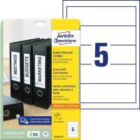 Avery Zweckform C32267-25 iratrendező betétlap