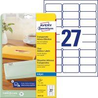 Avery Zweckform J4721-25 öntapadó etikett címke