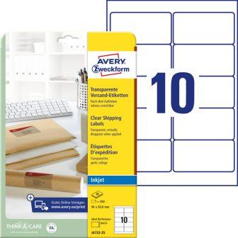 Avery Zweckform J4722-25 öntapadó etikett címke