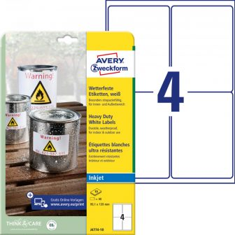 Avery Zweckform J4774-10 öntapadós etikett címke