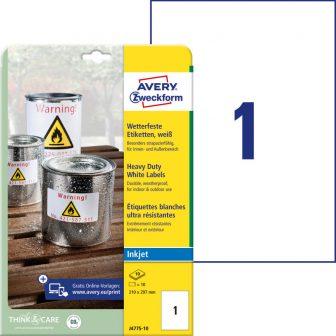 Avery Zweckform J4775-10 öntapadós etikett címke
