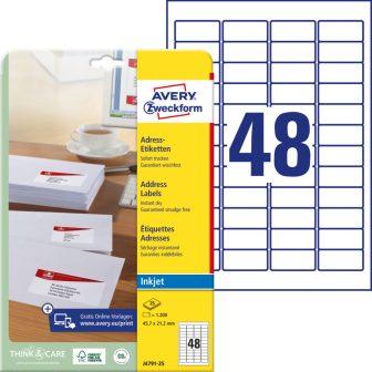 Avery Zweckform J4791-25 öntapadó etikett címke