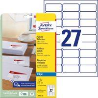 Avery Zweckform J4792-25 öntapadó etikett címke