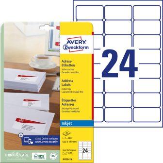 Avery Zweckform J8159-25 öntapadó etikett címke