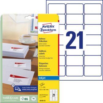 Avery Zweckform J8160-25 öntapadó etikett címke