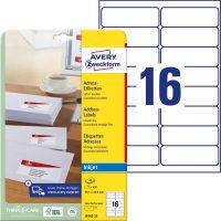 Avery Zweckform J8162-25 öntapadó etikett címke