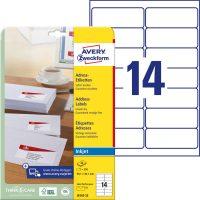 Avery Zweckform J8163-25 öntapadó etikett címke
