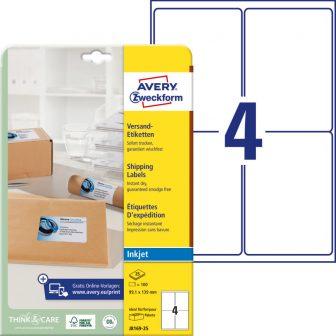Avery Zweckform J8169-25 öntapadó etikett címke