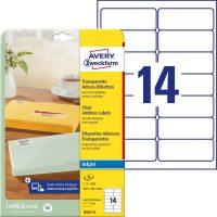 Avery Zweckform J8563-25 öntapadó etikett címke