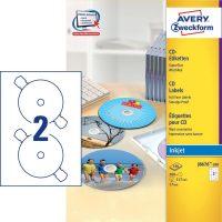 Avery Zweckform J8676-100 öntapadó CD címke