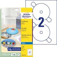 Avery Zweckform J8676-25 öntapadó CD címke