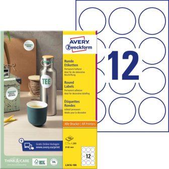 Avery Zweckform L3416-100 öntapadó etikett címke