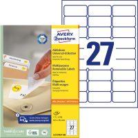 Avery Zweckform L4737REV-100 öntapadó etikett címke