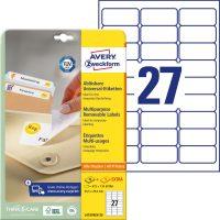 Avery Zweckform L4737REV-25 öntapadó etikett címke