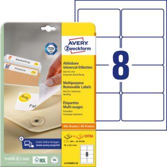 Avery Zweckform L4745REV-25 öntapadós etikett címke