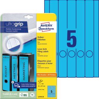 Avery Zweckform L4749-20 iratrendező címke