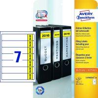 Avery Zweckform L4760J16-20 iratrendező címke