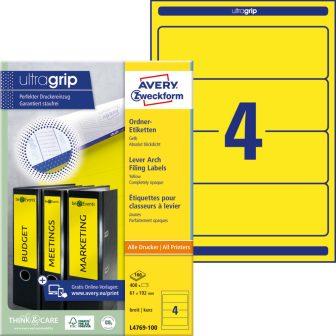 Avery Zweckform L4769-100 iratrendező címke