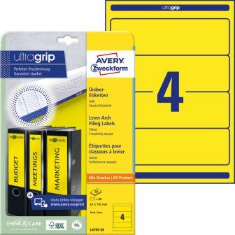 Avery Zweckform L4769-20 iratrendező címke
