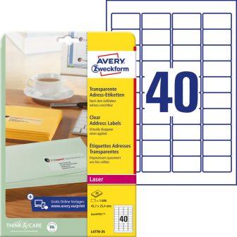 Avery Zweckform L4770-25 öntapadó etikett címke