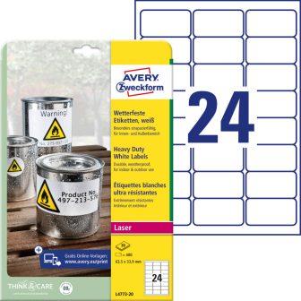Avery Zweckform L4773-20 öntapadós etikett címke