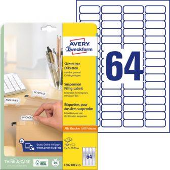 Avery Zweckform L6021REV-25 öntapadó függőmappa címke