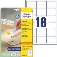 Avery Zweckform L6025REV-25 öntapadós etikett címke