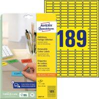 Avery Zweckform L6037-20 öntapadó etikett címke
