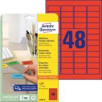 Avery Zweckform L6038-20 öntapadó etikett címke