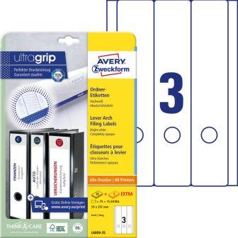 Avery Zweckform L6059-25 iratrendező címke