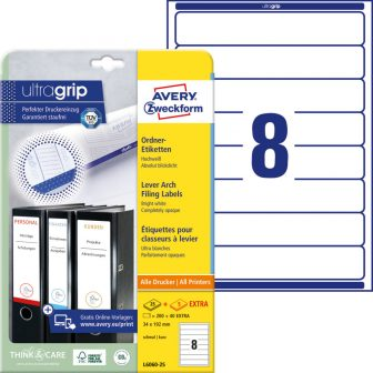 Avery Zweckform L6060-25 iratrendező címke