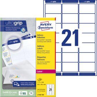 Avery Zweckform L7160-100 öntapadó etikett címke