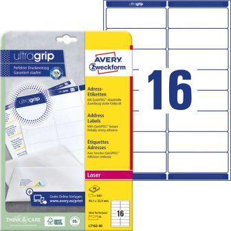 Avery Zweckform L7162-40 öntapadó etikett címke