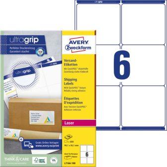 Avery Zweckform L7166-100 öntapadó etikett címke