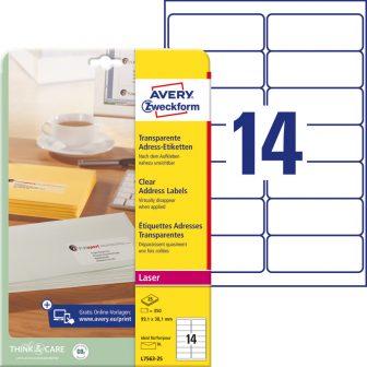 Avery Zweckform L7563-25 öntapadó etikett címke