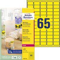 Avery Zweckform L7651Y-25 öntapadó etikett címke