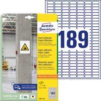 Avery Zweckform L7871-20 öntapadó etikett címke