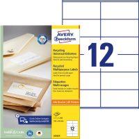 Avery Zweckform LR3424 öntapadós etikett címke