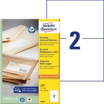 Avery Zweckform LR3655 öntapadós etikett címke