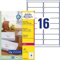 Avery Zweckform LR7162-100 öntapadó etikett címke
