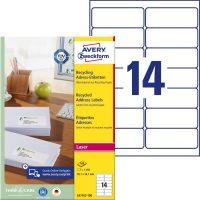 Avery Zweckform LR7163-100 öntapadó etikett címke
