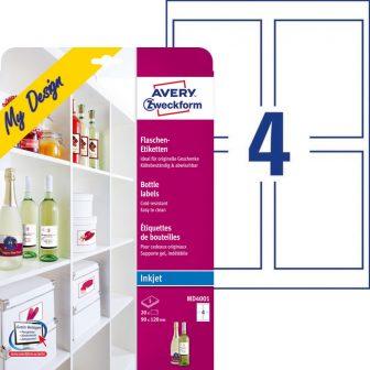Avery Zweckform My Design MD4001 boroscímke tintasugaras nyomtatókhoz - 20 címke / csomag (Avery MD4001)