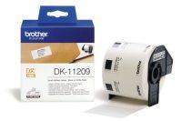 Brother DK-11209 tekercses öntapadó fehér etikett címke - méret: 29 x 62 mm - 800 címke / tekercs (Brother DK-11209)