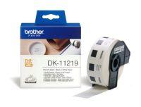 Brother DK-11219 tekercses öntapadó fehér etikett címke - méret: átmérő 12 mm körcímke - 1200 címke / tekercs (Brother DK-11219)