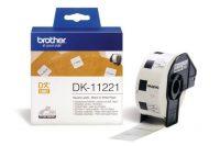 Brother DK-11221 tekercses öntapadó fehér etikett címke - méret: 23 x 23 mm - 1000 címke / tekercs (Brother DK-11221)