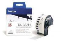 Brother DK-22214 tekercses öntapadó fehér szalag - méret: 12 mm x 30,48 méter (Brother DK-22214)