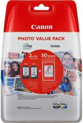 Canon PG-545XL/CL-546XL Multipack - 1 darab Canon PG-545XL, 1 darab Canon CL-546XL tintapatron egy csomagban + GP-501 50 ív (Canon PG-545XL/CL-546XL Multipack)