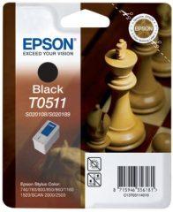 Epson T051140 tintapatron - fekete színű - 1 patron / csomag (Epson C13T05114010)