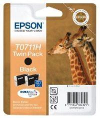 Epson T0711401H tintapatron - fekete színű - 1 nagykapacitású patron / csomag (Epson C13T07114H10)